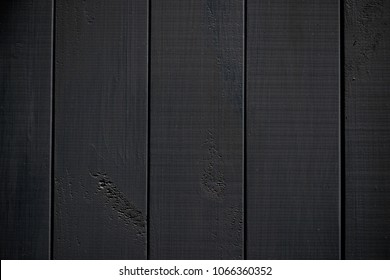 Wood texture. black timber board with weathered crack lines. Natural background for shabby chic design. Black wooden floor image. Aged tree surface close-up backdrop template