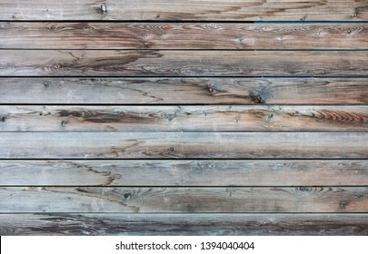 Wood texture closeup view. Vintage wooden floor background. Gray aged plank panels