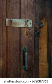 wood texture and hasp.
