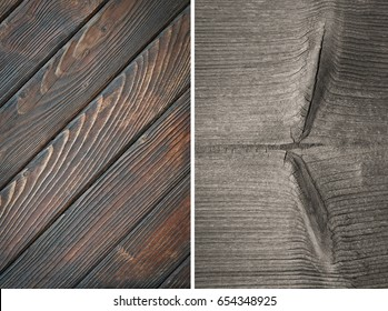 Wood texture. Lining boards wall. Wooden background. pattern Showing growth rings