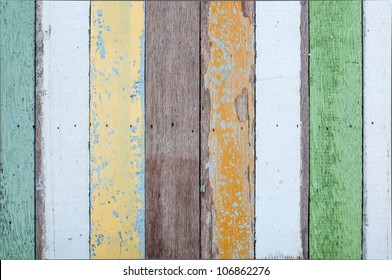 Wood texture with painting color peeled off