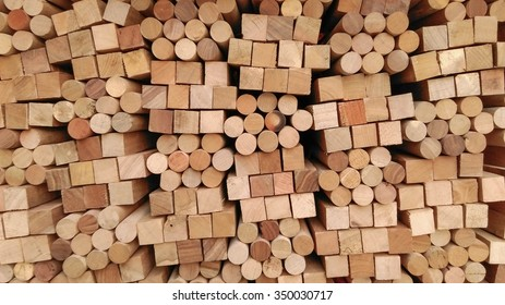 Wood Texture - square and circle section Background