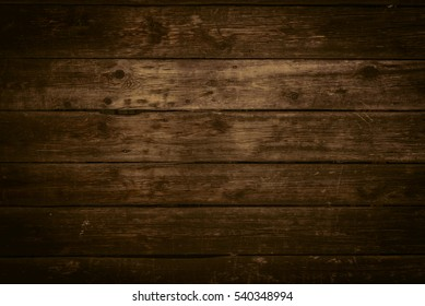 Wood texture in warm golden and brown tones. Old rural wooden wall, detailed plank fence photo background. Natural wooden building structure.