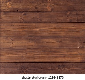 Wood Texture, Wooden Plank Grain Background, Striped Timber Desk Close Up, Old Table or Floor, Brown Boards