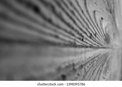 wood textured cement, narrow depth of field with copy space horisontal black and white