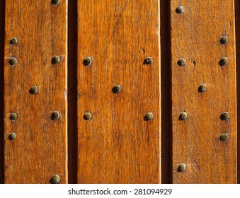 wood textured with metal nail background
