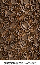 Wood Thai pattern Handmade wood carvings