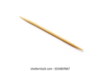 wood toothpick isolated on white background.
