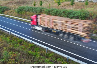 Wood truck  transport export transportation.