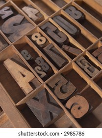 Wood Type in Drawer
