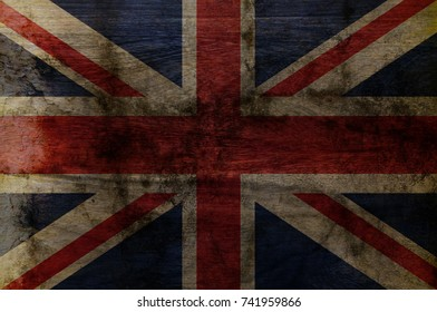 Wood  UK Flag texture background