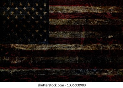 Wood USA Flag texture background