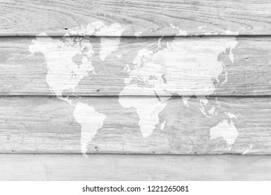 Wood wall or floor texture abstract texture surface background use for background with world map