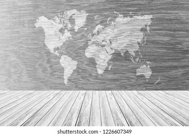 Wood wall or floor texture abstract texture surface background use for background with wood table or terrace and world map