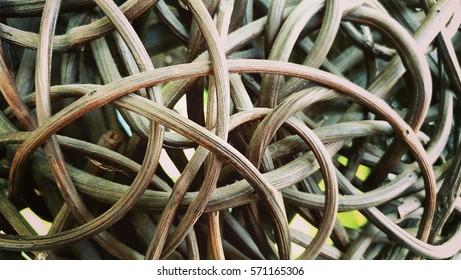 Wood weave sofa