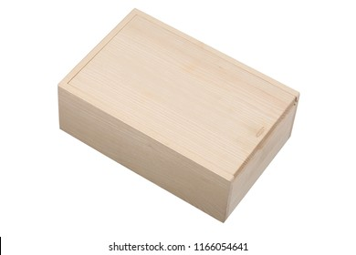 wood wine box isolated on white background with clipping path