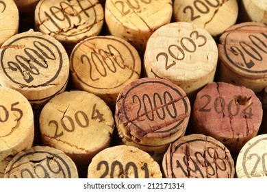 Wood wine cork close up