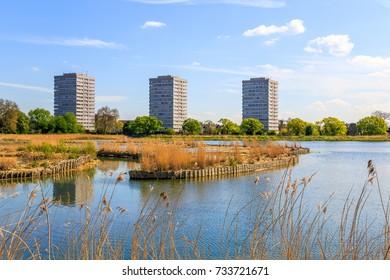 Woodberry wetlands nature reserve in Stoke Newington, Hackney, London