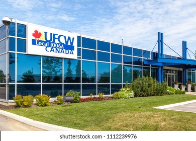 Woodbridge, Ontario, Canada - June 10, 2018: UFCW Canada Local 1006A building near Toronto in Woodbridge, Ontario, The United Food and Commercial Workers International Union (UFCW) is a labor union.