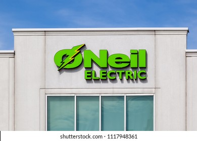 Woodbridge, Ontario, Canada - June 10, 2018: O'Neil Electric sign at corporate office in Woodbridge, a Canadian Wholesale Supplier of Premium Electrical Products in Ontario and the GTA .