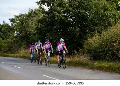 Woodbridge, Suffolk, UK, September 14 2019 - Crafted Classique 2019 100 mile route through the Suffolk countryside