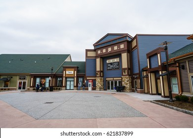 WOODBURY, NEW YORK - JAN 21 : Landscape ofWoodbury Common Premium Outlet on Jan 21, 2017 in Woodbury, New York, USA.