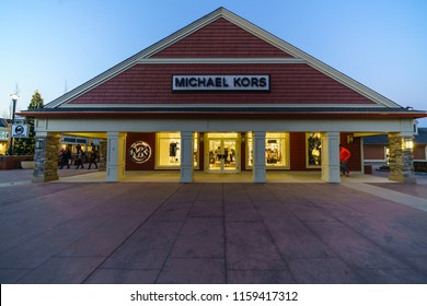 WOODBURY, NEW YORK - NOV 14 : Michael Kors shop in Woodbury Common Premium Outlet on Nov 14, 2017 in Woodbury, New York, USA.