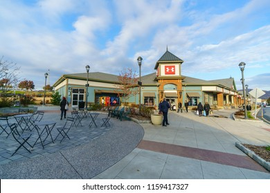 WOODBURY, NEW YORK - NOV 14 : Under Armor shops in Woodbury Common Premium Outlet on Nov 14, 2017 in Woodbury, New York, USA.