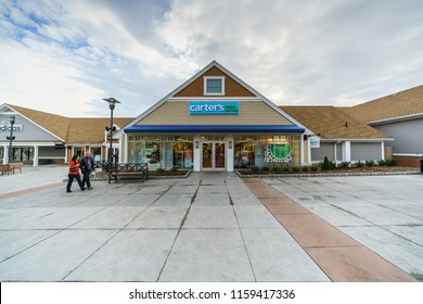WOODBURY, NEW YORK - NOV 14 : Carter's babies and kids shops in Woodbury Common Premium Outlet on Nov 14, 2017 in Woodbury, New York, USA.