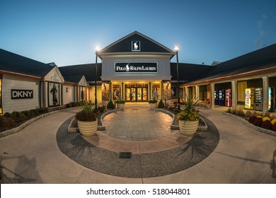 WOODBURY, NEW YORK - OCT 26 : Polo Ralph Lauren shop at Woodbury Common Premium Outlet on Oct 26, 2016 in Woodbury, New York, USA.