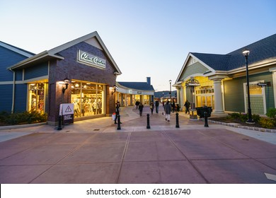 WOODBURY, NEW YORK - OCT 26 : Landscape of  Woodbury Common Premium Outlet on Oct 26, 2016 in Woodbury, New York, USA.