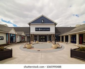 WOODBURY, NY / USA - 4/8/2018: Polo Ralph Lauren storefront.
