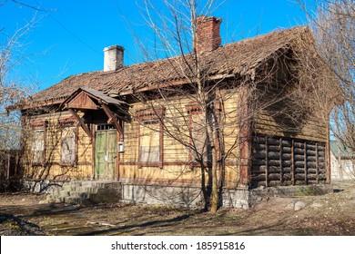 Wooden abandoned house. Tallinn, Estonia, Europe