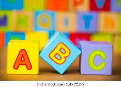 The Wooden Alphabet; A, B, C