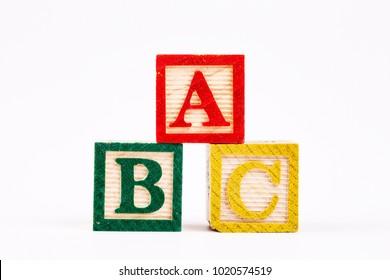 The Wooden Alphabet; A B C