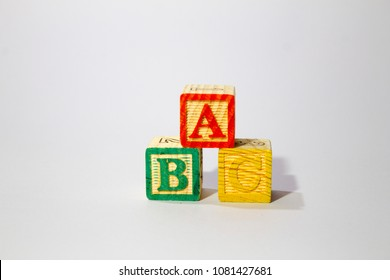 Wooden Alphabet Block Spelling ABC,ABC's blocks.
