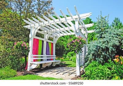 wooden arch gate