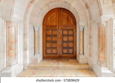Wooden arched double doors & Castle Door Images Stock Photos \u0026 Vectors | Shutterstock