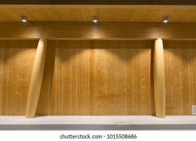 Wooden architecture background
