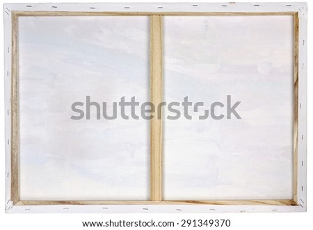 Wooden Art Frame Oil White Canvas Stock Photo (Edit Now) 291349370 ...