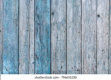 Wooden Background With Blue Paint, Vertical BoardsAbstract Texture