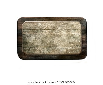 Wooden background. Wooden board on a white background