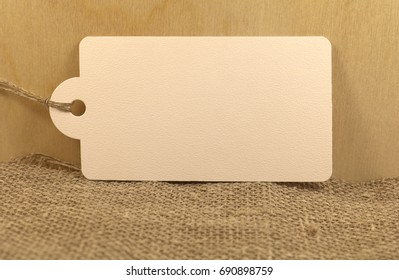 Wooden background with burr and label