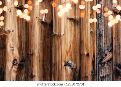Wooden background, dark brown wood texture with leights