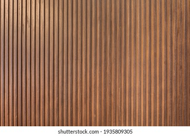 Wooden background, empty surface. modern boards are dark brown. Wooden photophone in rustic style
