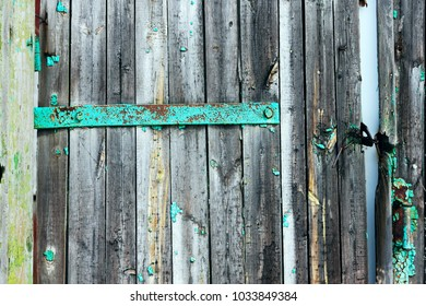 wooden background shabby and scratched with old peeling paint