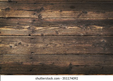 Wooden background. Texture with an old, rustic, brown planks