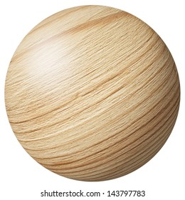 wooden ball isolated on white background