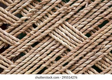 wooden bambo or wicker basket weave