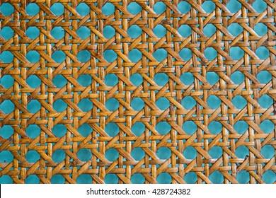 Wooden bamboo mesh texture, design decor detail